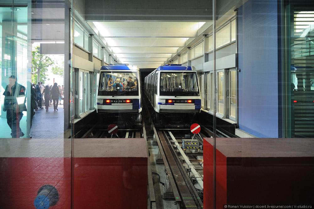 Схема метро Лозанны: синяя и