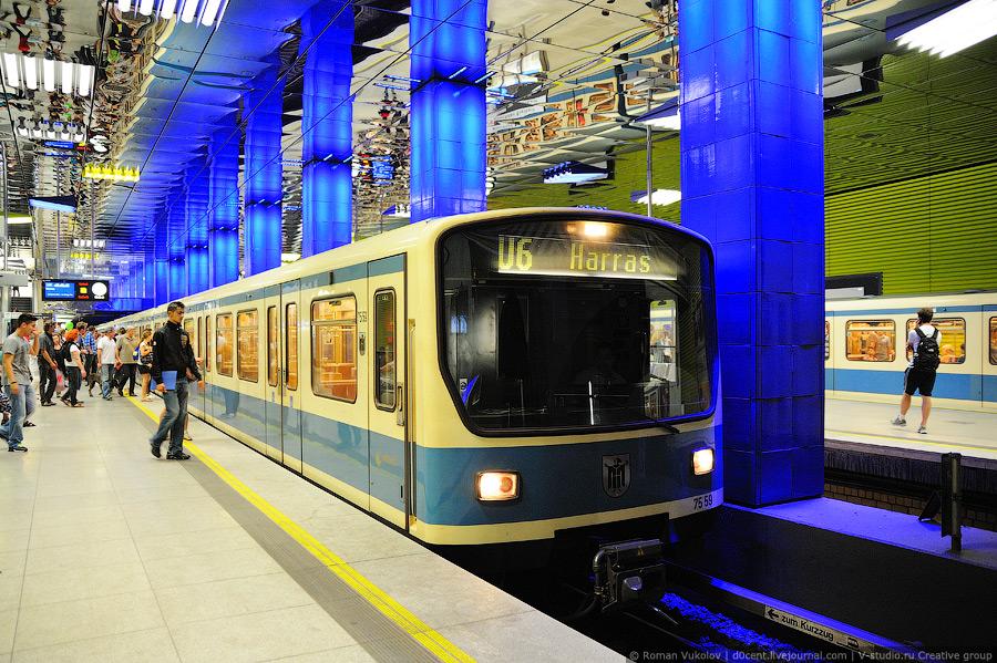 Метро Мюнхена (U-Bahn) - (Смотрим) .