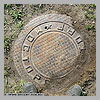 Exotic old sewer cover